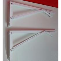 Suporte Dobrável Branco 41cm (o Par) P/ Mesas,bancadas Etc.