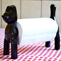 Cachorro Porta Papel Toalha Guardanapo De Mesa Preto Plastic