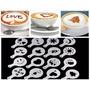 Kit Molde Stencil Diversos P/ Decorar Café+sobremesa+barista
