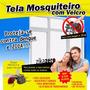 Tela P/ Mosquitos Mosquiteiro Para Janelas Velcro E Adesivo