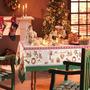 Toalha De Mesa Natalina Receita Noel 178cm 100% Algodão -