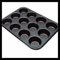 Kit C/4 Forma Pão De Queijo E Cupcake Anti-aderente 12 Cavas