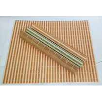 Jogo Americano Lugar Americano Em Bambu 4 Peças 30x40 Cm