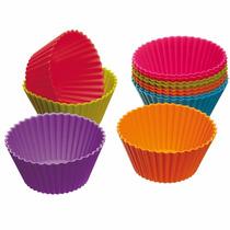 16 Forma Cupcake Muffins Queijadinha Petit Gateau Silicone G