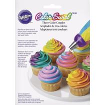 Bicos Confeitar Wilton Color Swirl Confeite 3 Cores - No Br