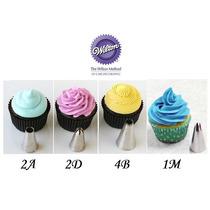 Kit 4 Bicos 2a / 1m / 2d / 4b - Wilton Cupcake Confeitaria