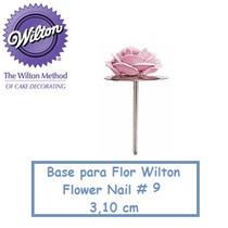 Base De Metal Para Flores - Wilton Flower Nail #9 Confeitari
