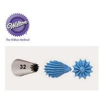 Bico Para Confeitar Inox Pequeno 32 Pitanga Aberta - Wilton