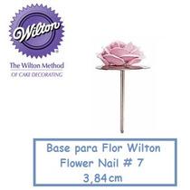 Base De Metal Para Flores - Wilton Flower Nail #7 Confeitari