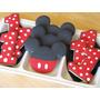 Jogo Cortador Cookie Biscoito Mickey Inox C/5pcs- Casa Amora