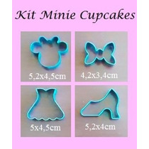Cortador Minnie Kit 4 Peças Inox Pasta Americana Biscoito