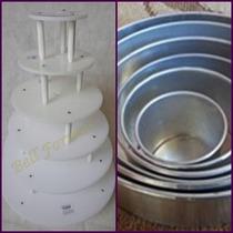 Formas Redondas Conjunto 6 Pçs + Banquinho 6 Andares - 10cm