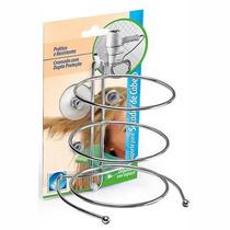 Suporte Aço Inox P/ Secador De Cabelo Com Ventosa P/ Parede