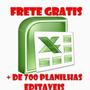 699 Planilhas Excel 100% Editáveis Frete Grátis - Download