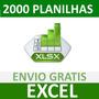 2000 Planilhas Excel 100% Editáveis Frete Grátis