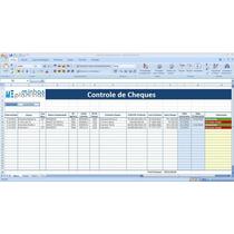 Planilhas Controle De Cheques Pré Datados + 1600 Planilhas