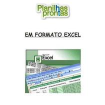 Planilhas Prontas Excel Editáveis( Mais De 1000 Planilhas)