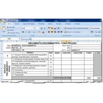 Kit Planilhas Excel P/ Orçar E Financiar Obras Cef