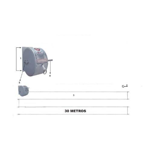Varal Recolhível Stick Pratick 30 Metros Original - Prático