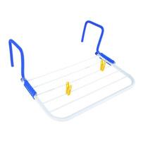 Varal Portátil Seca Roupas Pequeno Haste Regulavel P/ Porta