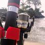 Kit Pesca Praia Vara Telescópica V-tex 2,40 + Molinete 5000