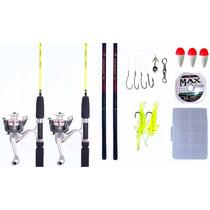 Kit Pescador 4 Varas + Acessórios + Frete Grátis Aproveite