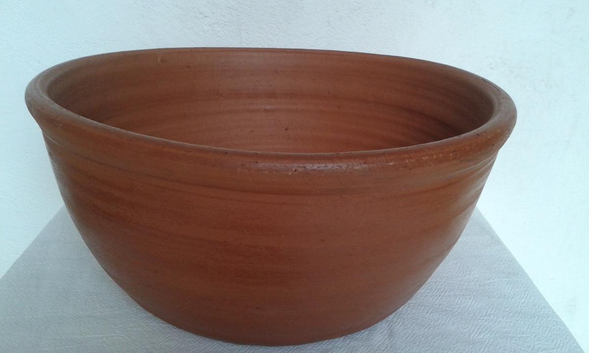 Vaso barro forma cuba 39cm di metro grande cer mica for Vaso grande