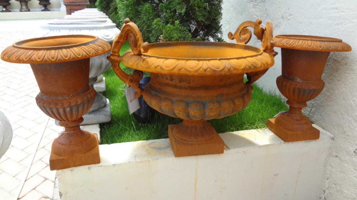 decoracao jardim vasos:Vaso De Ferro- Decoração- Arte – Antiquário E Jardim – Vf038 – R$ 1