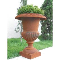 Vaso Taça De Ferro Fundido- Decoração- Arte- Antiquário Vf43