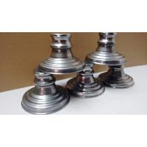 Base De Metal 5 Pçs Para Vaso Com Cristais