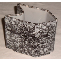 Vaso Ceramica Esmaltado Formato Clips /