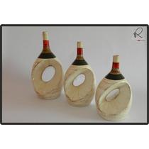 Cerâmica Esmaltada - Trio De Vasos Grande Moderno
