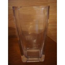 Lindo Vaso De Flores Em Vidro Estilo Cristal Quadrada 17x9