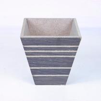 Vaso De Madeira Quadrado Cônico Pequeno 13 X 13 Cm (213)-