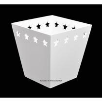 10 Cachepot Borda Estrela G Branco 16x11x11 - Mdf - Madeira