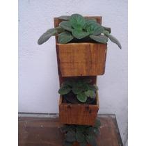 Suporte Para Plantas Vertical Madeira Rustica