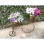 Promoção Bicicleta P/ Plantas Decorada C/ Arabescos E Vasos