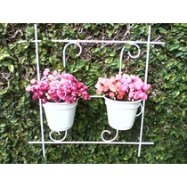 Suporte Para Plantas Jardim Vertical Com Arabescos E Vasos