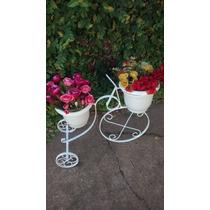 Promoção Bicicleta Branca P/plantas C/arabescos E Vasos
