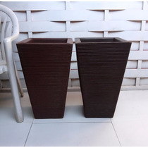 Kit Com 2 Vasos Para Planta E Flores De Polietileno 60x38 Cm
