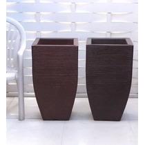 1 Vaso Trapesio Fibra Forte Conico Muda Rafia Yucca 75x40 Cm