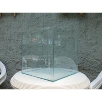 Vaso Cachepot De Vidro 35x35 - Base De Alumínio Com Rodízio
