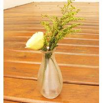 Conjunto Com 28 Vasos/garrafa Decorativo De Vidro Incolor