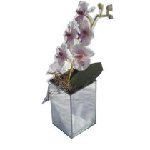 Vaso De Vidro Espelhado, Formato De Cubo 10x10x16
