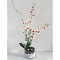 Vaso De Orquídea Artificial, Vaso De Vidro