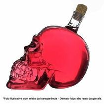 Garrafa De Caveira 750ml - Cranio De Vidro Transparente