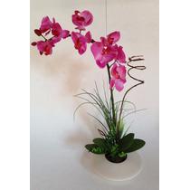 Arranjo De Orquídea Em Silicone Artificial