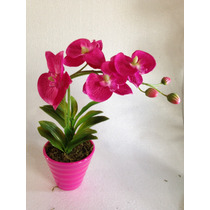 Arranjo De Orquídea Purpura Artificial