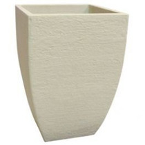 Vaso Plastico Polietileno Cor Cimento Quadrado Moderno