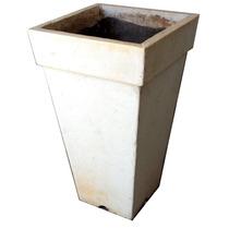 Vaso De Cimento 31x31x54 Cm Usado Branco